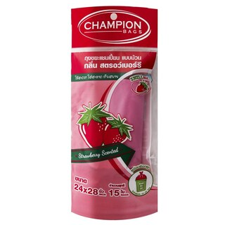 "Strawberry Scented Garbage Bag 18""X20"" (30/Pack) CHAMPION"