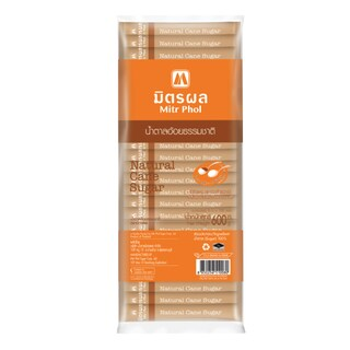 Natural Cane Sugar Stick 6g. (100/Pack) มิตรผล
