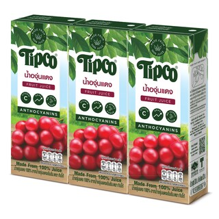 Red Grape Juice 100% 200ml. (3/Pack) ทิปโก้