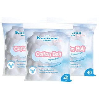 Karisma Cotton Ball 40 g. 3/Pack