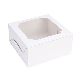 Boxjourney 0102006 Cake Containers 1Pond White 20/Pack