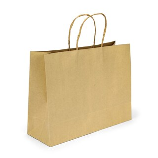 boxjourney 0204016 Brown Paper Bag With Twisted Handle