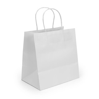 boxjourney 0201016 Paper Bag With Twisted Handle White Size M