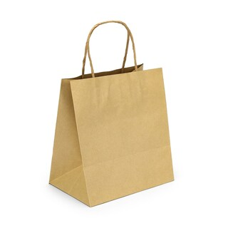 boxjourney 0201007 Paper Bag With Twisted Handle White Size M
