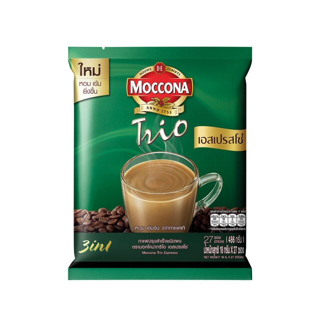 3in1 Espresso Instant Coffee 18g (27/Pack) Moccona Trio