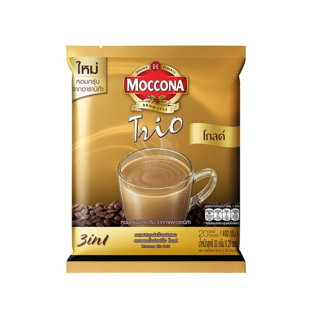 3in1 Royal Gold Instant Coffee 20g. (1x20) Moccona Trio
