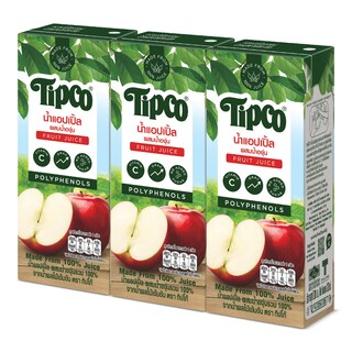 Apples juice 100% 200 ml. (3/Pack) ทิปโก้