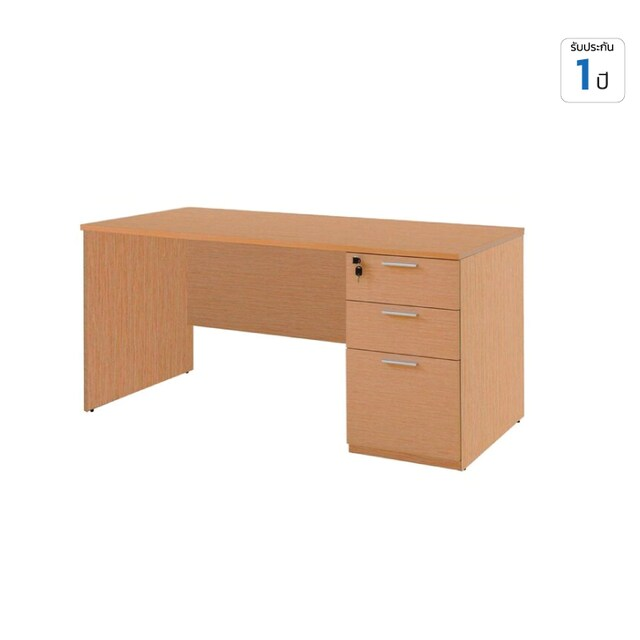 Furradec ST150PDC3 Desk with Drawer Beech