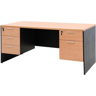 Furradec ST165DB+SDA Desk with Left-Right Drawer Beech-Graphite