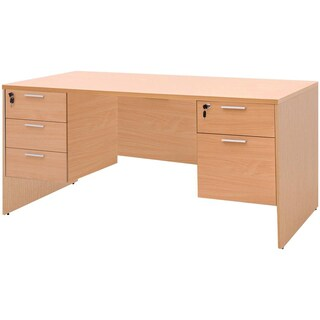 Furradec ST165DB+SDA Desk with Left-Right Drawer Beech