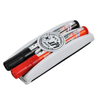 Whiteboard Marker With Eraser (Black Red) ตราม้า