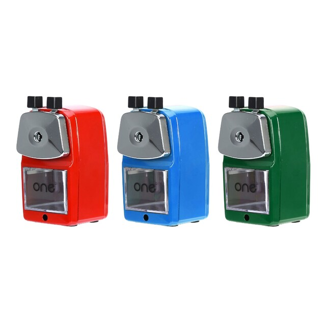 ONE YF9122 Pencil Sharpener. Assorted Colors.
