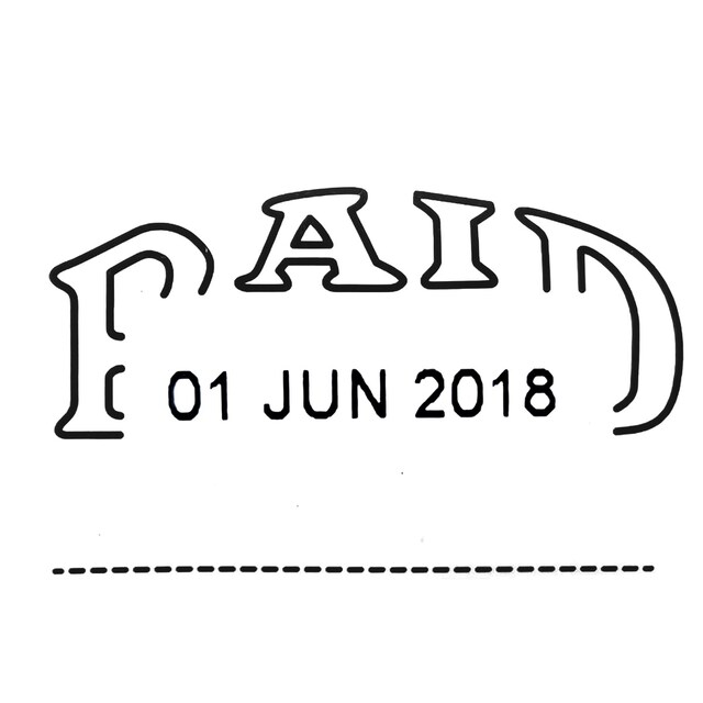 Art D-4 PAID Date Stamp