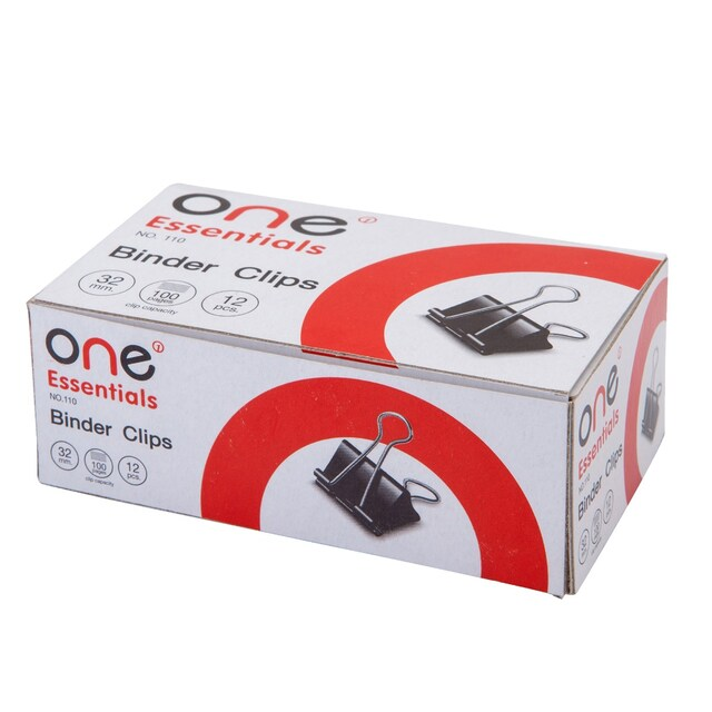 ONE 110 Binder Clip 32 mm. 12/Box