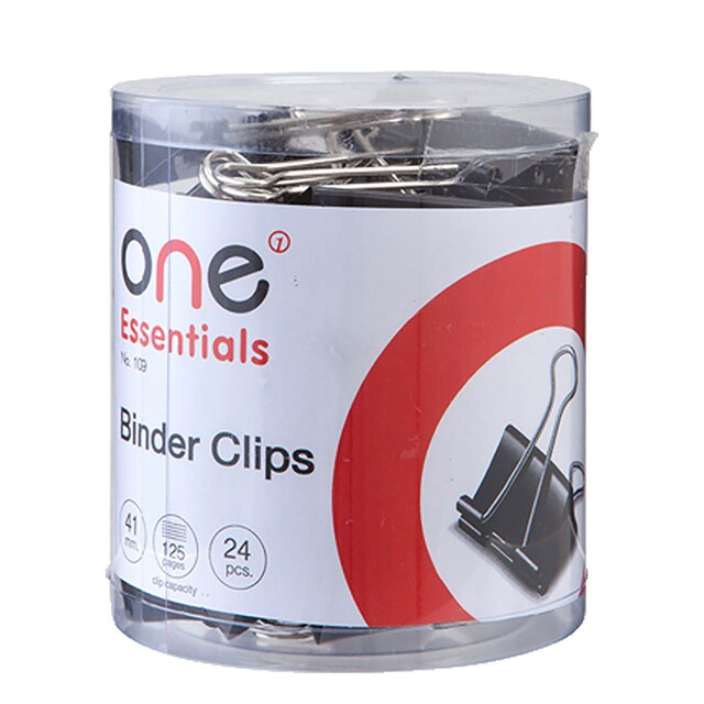 ONE 109 Binder Clip 41 mm. Black 24/Box
