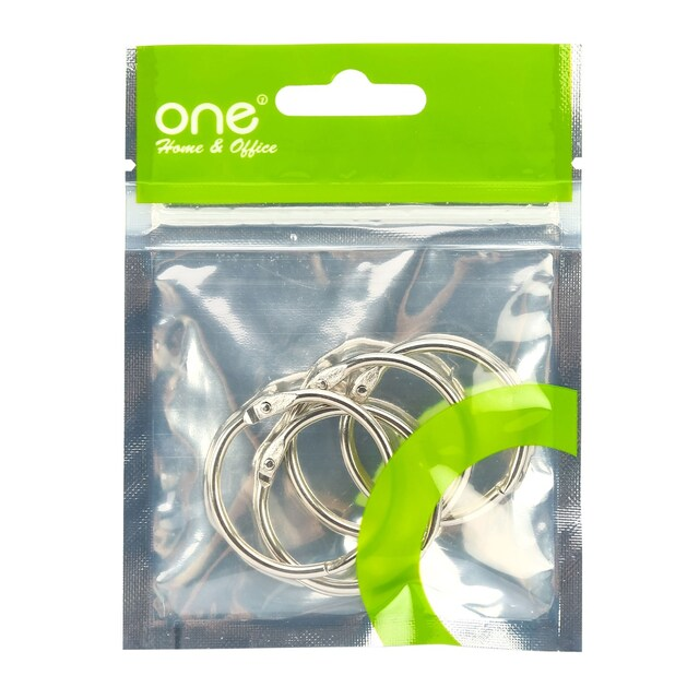 "ONE CR-002 Card Ring 1 1/4"" Silver 4/Pack"