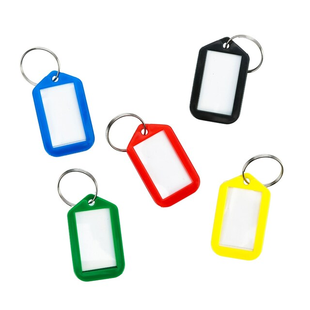 ONE CW-010-25 Plastic Key Tag 5x3cm. Asst. Colors