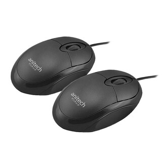 Anitech A101 Mouse Black 2-Pack