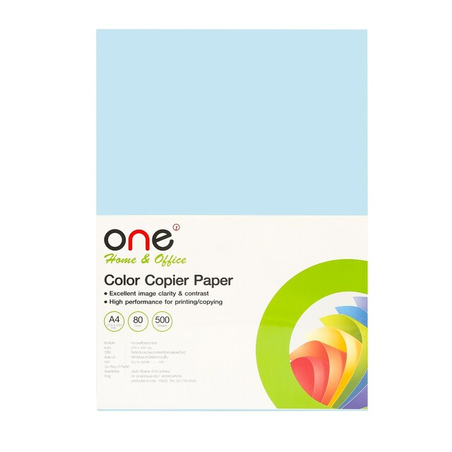 ONE Colour Copier Paper 12 A4 80 gsm. Aqua Blue 500Sheets