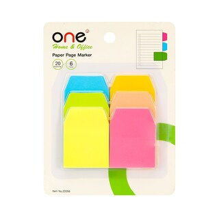 Self-Adhesive Paper Index Notes Asst. Colors ONE 22056