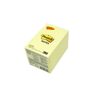Post-it Note Valued Pack 656-4 Yellow (4 each Free 1 each)