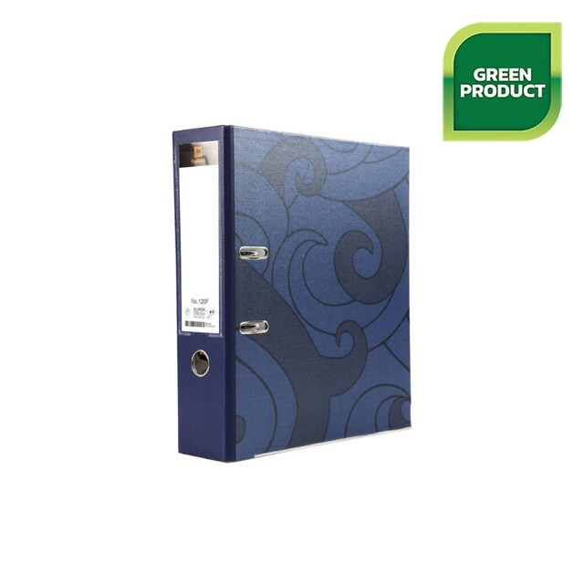 Lever Arch File F4 3-Inch Spine Blue Elephant 120