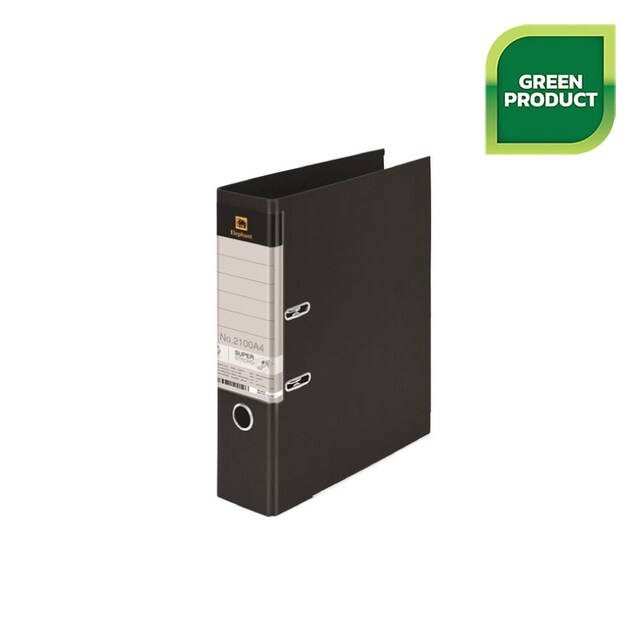 Lever Arch File A4 3-Inch Spine Black Elephant 2100