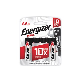 AA Battery MAX (8 Piece) Energizer E91