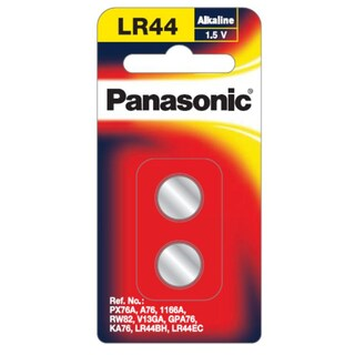 Panasonic LR-44PT/2B Button Cell Battery 1.5V 2/Pack