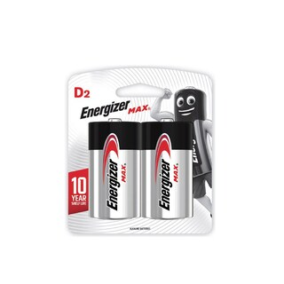 E95-BP2 DAlkaline Battery D (2 Piece) Energizer Max