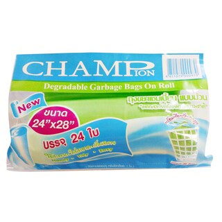 "CHAMPION Garbage Bags 24""x28"" Colours 24/Pack"