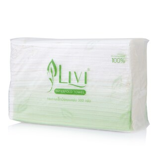 Interfold Hand Towel 1 Layer (300 Sheet) LIVI 1160-1