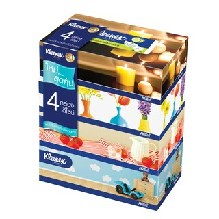 Facial Tissue Room Design (4/Pack) คลีเน็กซ์