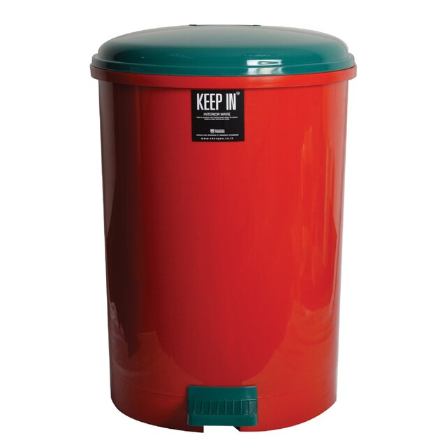 Step Trash Bin 35 Lit Asst. Colors KEEP IN RW9086