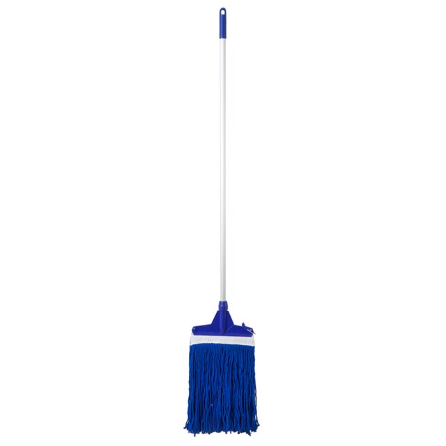 10 Inch Locking Head Mop with Cloth Blue NCL
