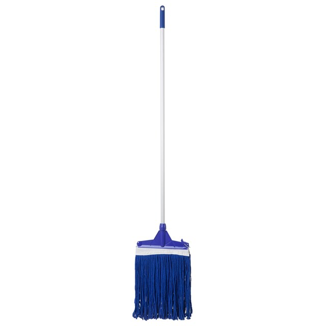 12 Inch Locking Head Mop with Cloth Blue NCL