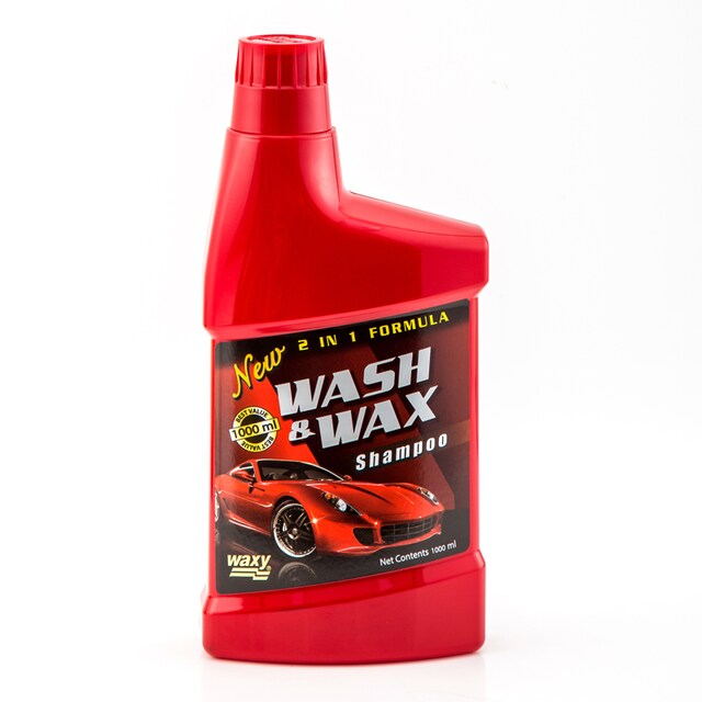 Wash & Wax Shmpoo 1000 cc. Red Waxy