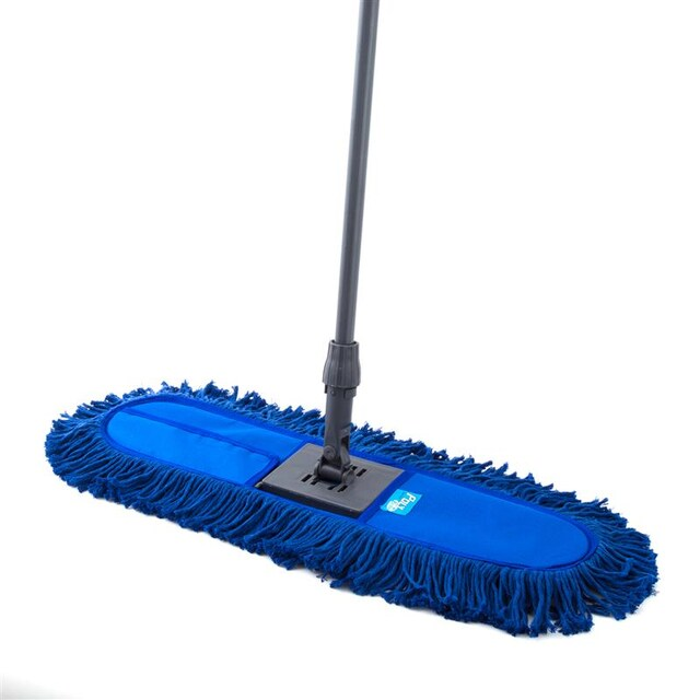"Poly Refill Cotton Flat Mop 24"" Blue Poly-Brite 5666-2"