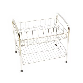 Stainless Steel Shelves with 2 dish racks Work WS12