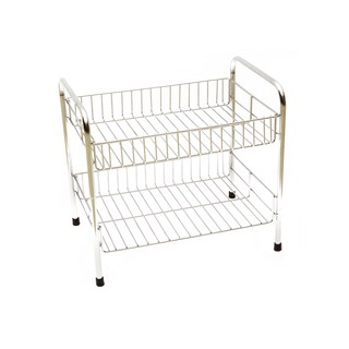 2 Dish Stainless Steel Shelves Work WS14