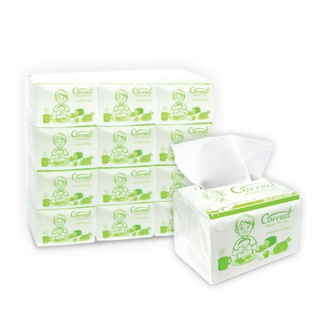 Pop Up Napkin Tissue Paper 1 Ply 200 Sheets (12/Packs) คอลเลก