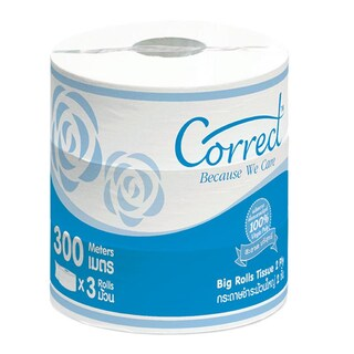Jumbo Roll Tissue 2Ply 300m. (3/Pack) คอลเลก