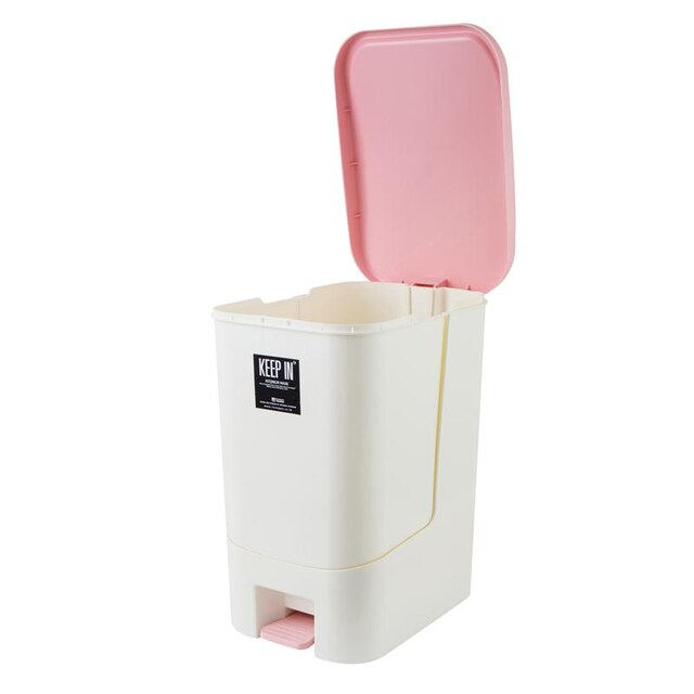 Step Trash Bin ECO 28 Liter Pink Cap KEEP IN RW9296