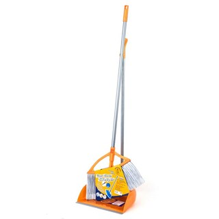 Easy Clean Sweeper and Dustpan Orange-Gray Anchor 111108