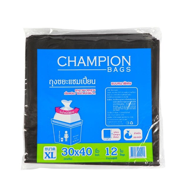 "Garbage Bag 30""x40"" (12/Pack) CHAMPION"