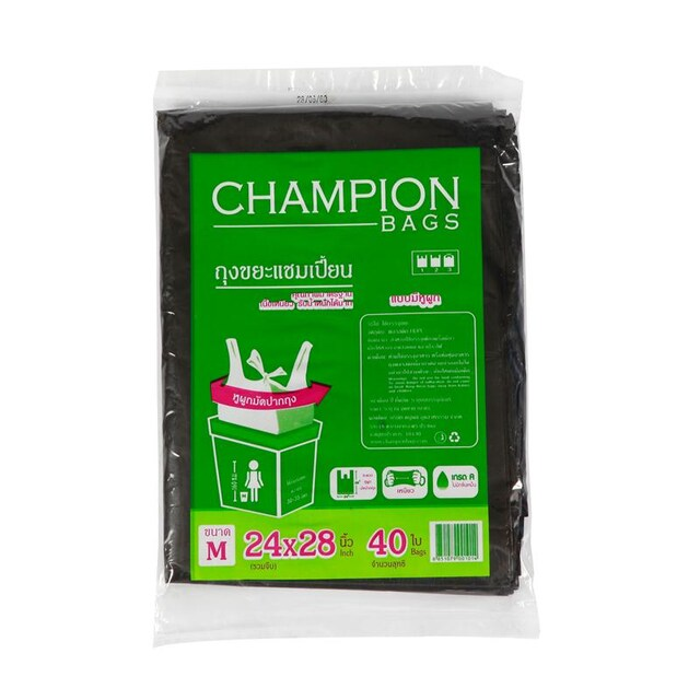 "CHAMPION Tie Handle 24""x28"" 40/Pack"