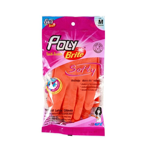 Natural Latex Gloves Poly-Brite 935-21D