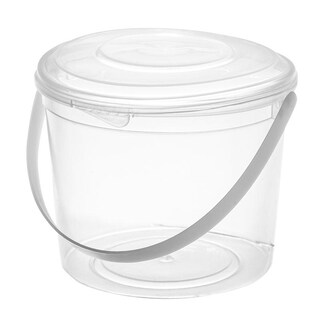 Round Plastic Container with Lid 500ml. (25/Pack)