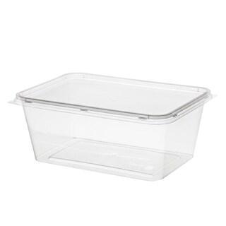 Plastic Container With Lid 1000ml. (25/Pack)