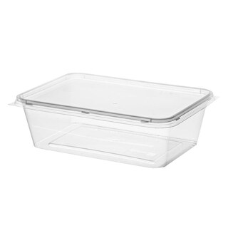 Plastic Container With Lid 650ml. (25/Pack)